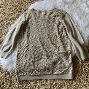 Sequin Sweater 3/4 Sleeves